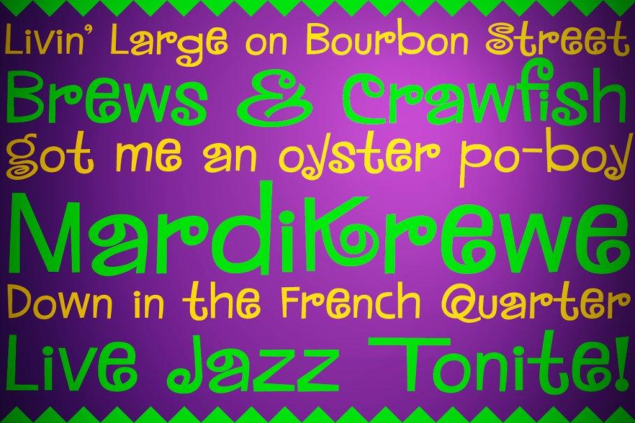 bc10ff8fc5 MardiKrewe - Regular ~ Display Fonts ~ Creative Market