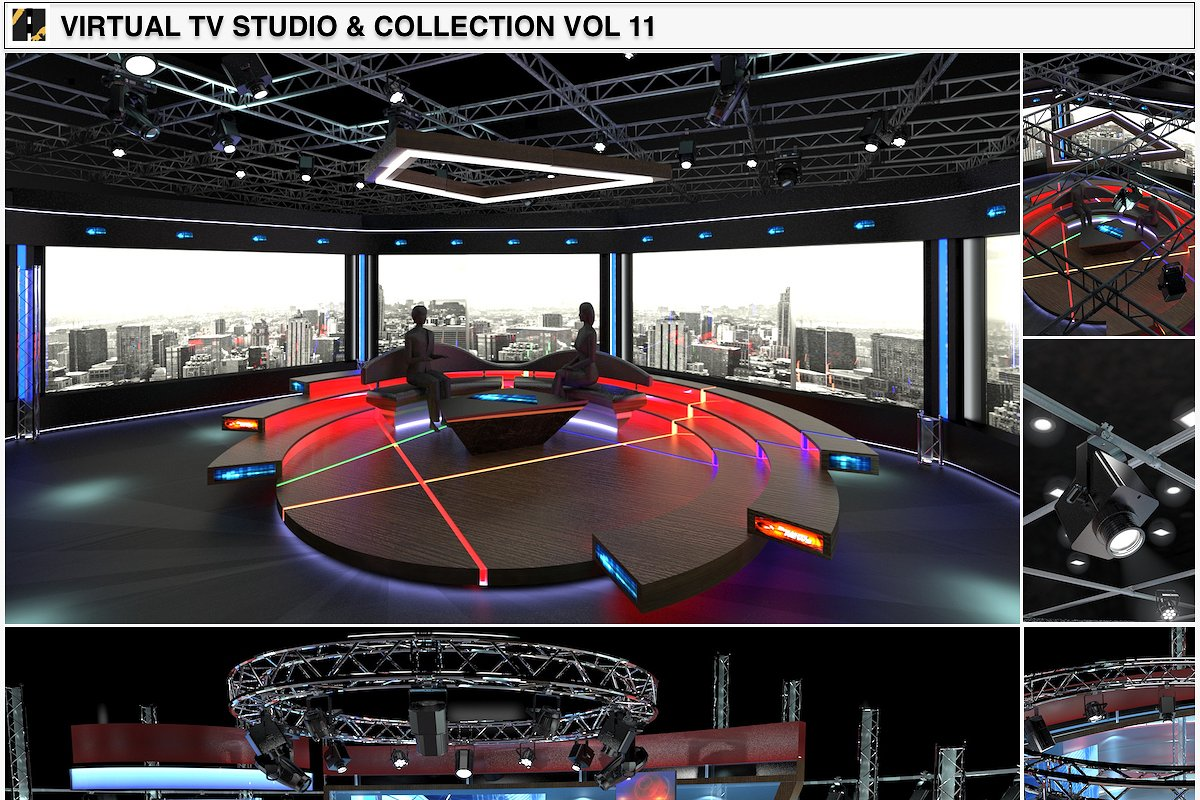 TV Studio Chat Sets Collection 11