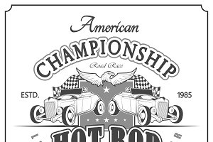 vintage drag race car for printing