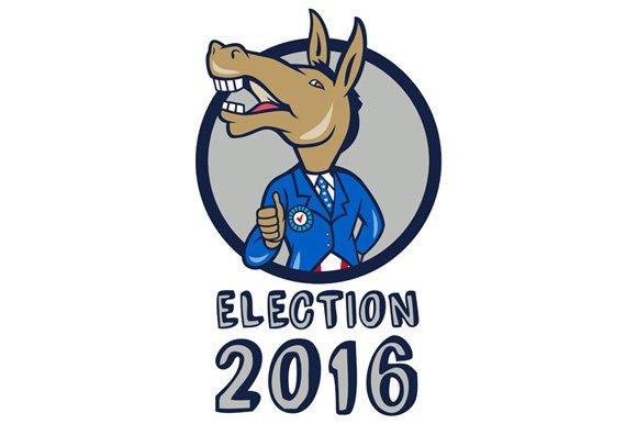 Election 2016 Democrat Donkey Mascot