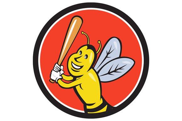 Killer Bee Baseball Player Batting C