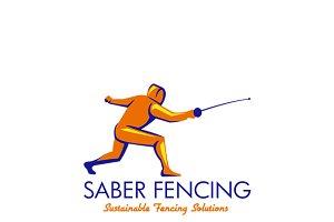 Saber Fencing Logo