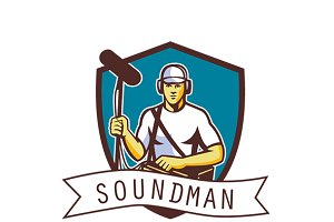 Soundman TV Sound Services Logo