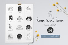 Home sweet home - premade logos set by  in Logos