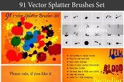 Splatter Brushes Vector Set