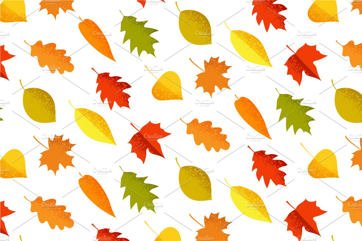 autumn leaves seamless pattern graphic patterns creative market