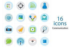 Flat Icons Communication