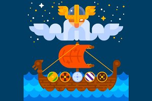 Viking Ship under Odin's Control