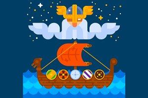 Viking Ship under Odin's Control