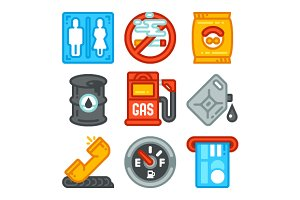 Gas Station Icons