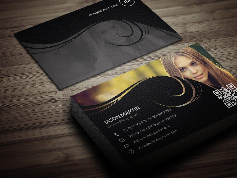 creative photographer business card  business card