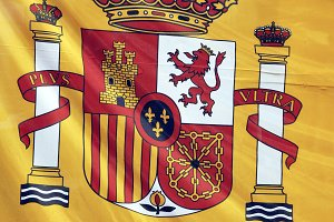 Detail of an spanish flag