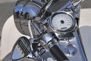 Silver motorbike