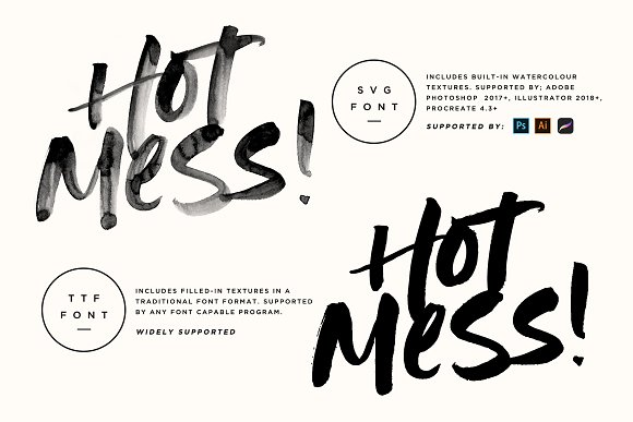 Hot Mess! SVG Font in Cool Fonts - product preview 8