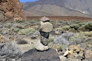 Cairn in Mount Teide. Spain