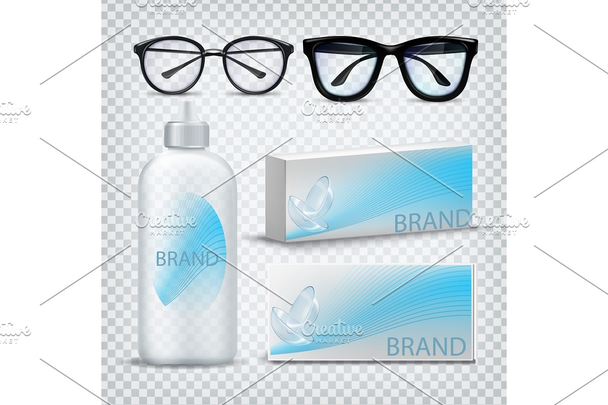dd3ac716b794 Optical Glasses And Contact Lenses ~ Illustrations ~ Creative Market