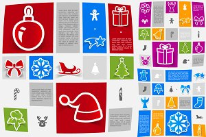 9 Christmas sticker infographics