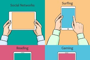 Smartphones, tablets and e-book