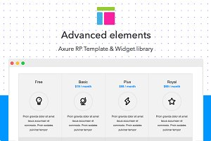 Axure template / Advanced elements