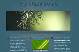 Chalkboard Single Page Template