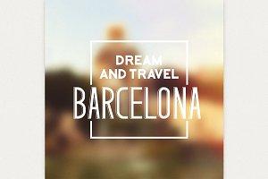 Barcelona travel print.