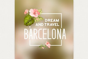 Barcelona souvenir print.