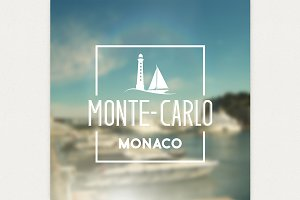 Monte-carlo travel print
