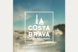 Costa Brava souvenir print