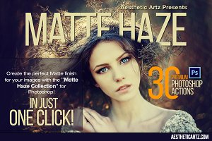 Matte Haze Photoshop Actions
