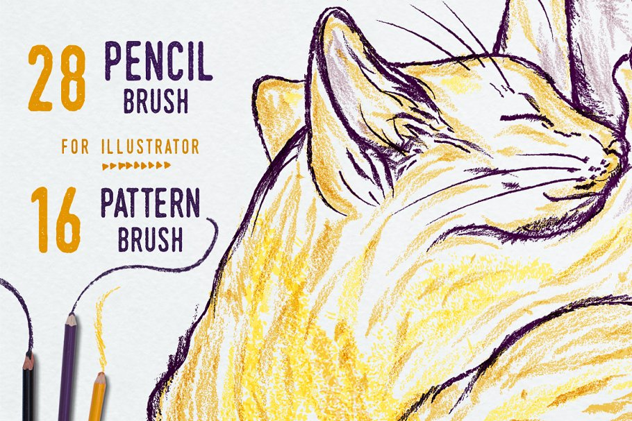 Illustrator Pencil Brushes ~ Illustrator Add-Ons ~ Creative