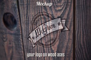 Wood aces - Mockup logo
