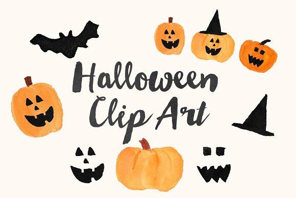 $2 SALE Watercolor Halloween ClipArt ~ Illustrations ~ Creative Market