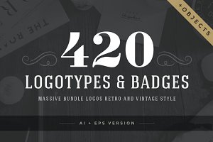420 Vintage logotypes and badges