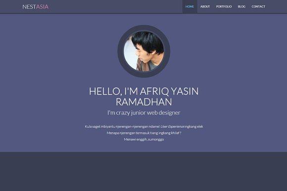 Nestasia - Onepage Resume Template
