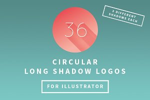 A-Z Circular Long Shadow Logos