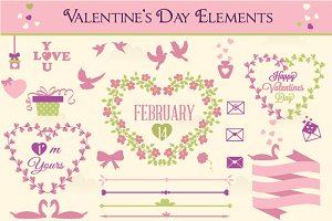 Valentines day labels and elements 3