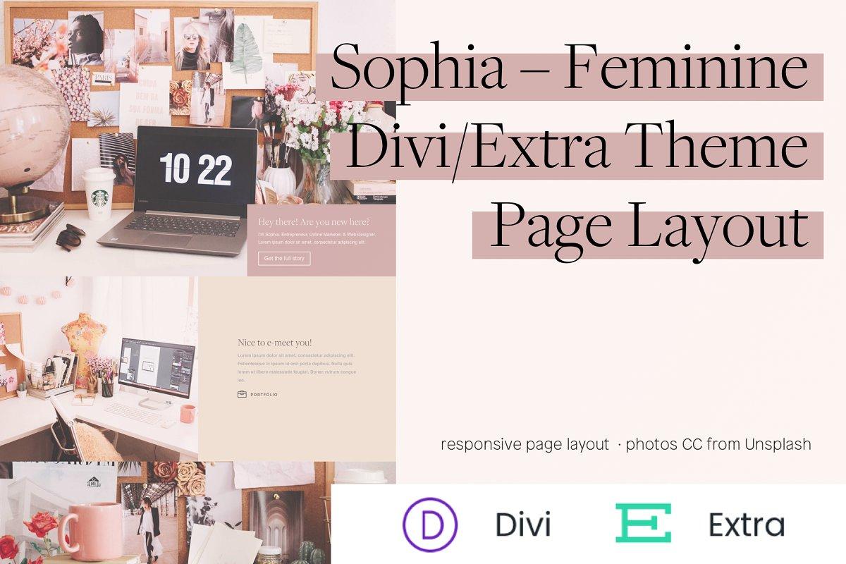 Sophia – Feminine Divi Theme Layout