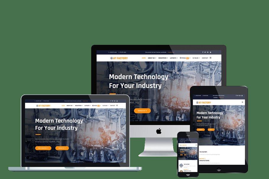 AT Factory Premium Industrial Joomla
