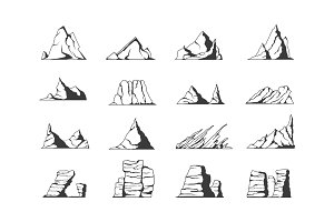 Vector  mountains.