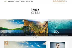 Lyra - WordPress Blog Theme(50% Off)