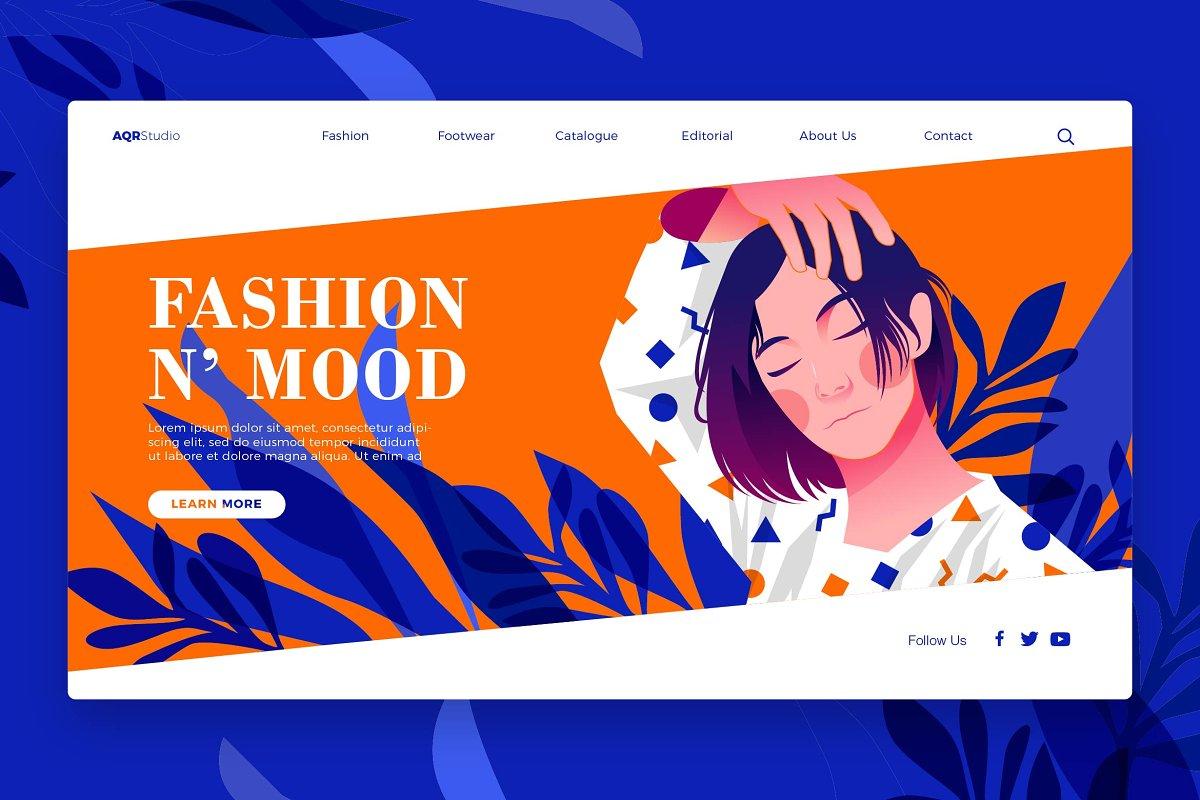 Fashion Mood - Banner & Landing Page