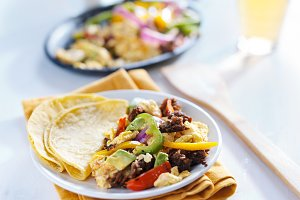 chorizo fajita breakfast scramble