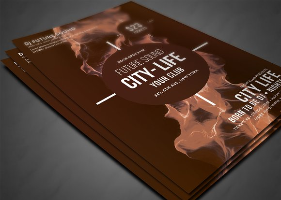 Futuristic Festival Concert Flyer in Flyer Templates - product preview 2