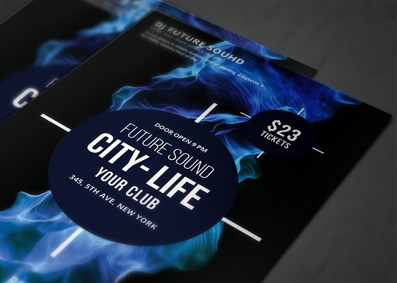 Futuristic Festival Concert Flyer in Flyer Templates - product preview 3