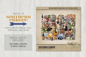 Southern Europe Digital Art Kit