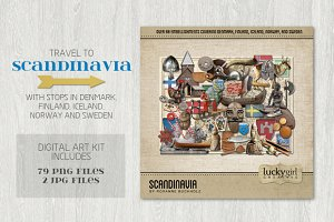 Scandinavia Digital Art Kit