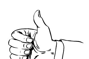 Gesture everything is fine thumb