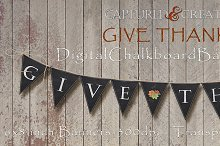 DIY Give Thanks Chalkboard Banners