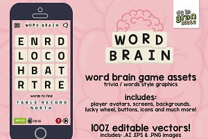 WORD BRAIN Game Gui Assets