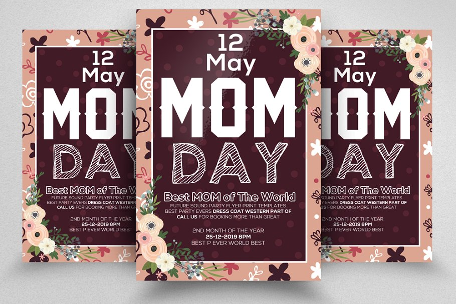 Best Mother's Day Flyer Template ~ Flyer Templates ~ Creative Market